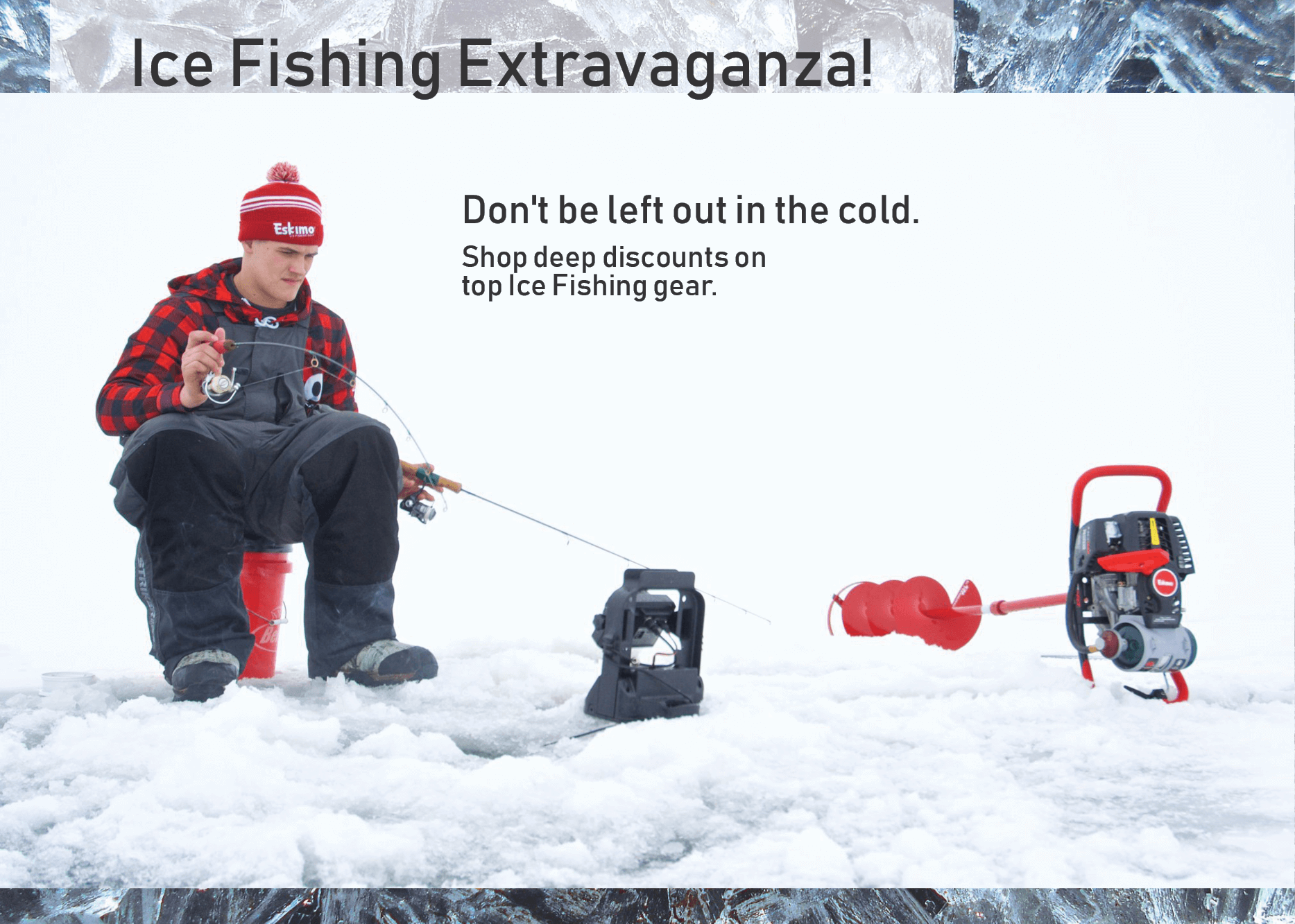 Shop the Ice Fishing Extravaganza at FishUSA, America's Tackle Shop!