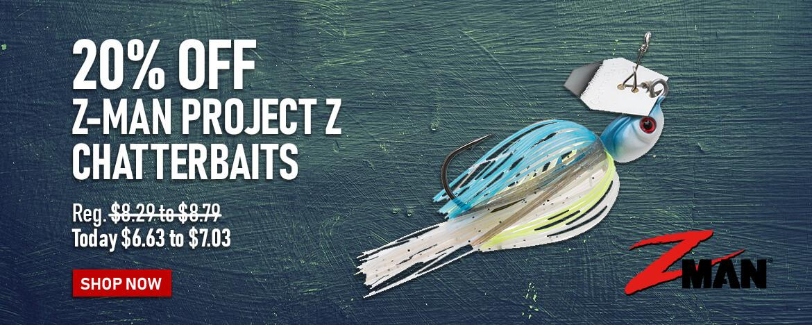 Save 20% on the Z-Man Project Z Chatterbait at FishUSA, America's Tackle Shop!