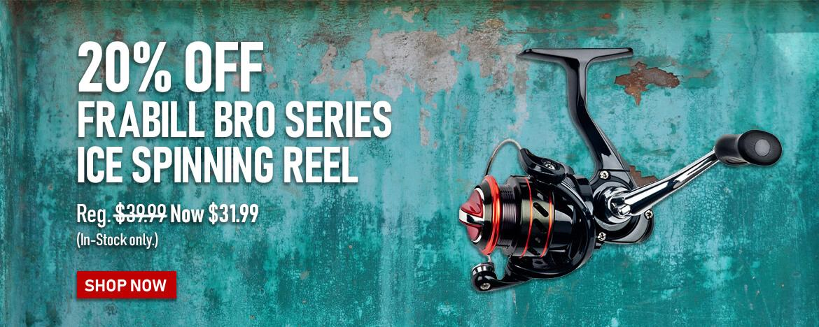Save 20% on the Frabill Bro Series Ice Spinning Reel at FishUSA, America's Tackle Shop.