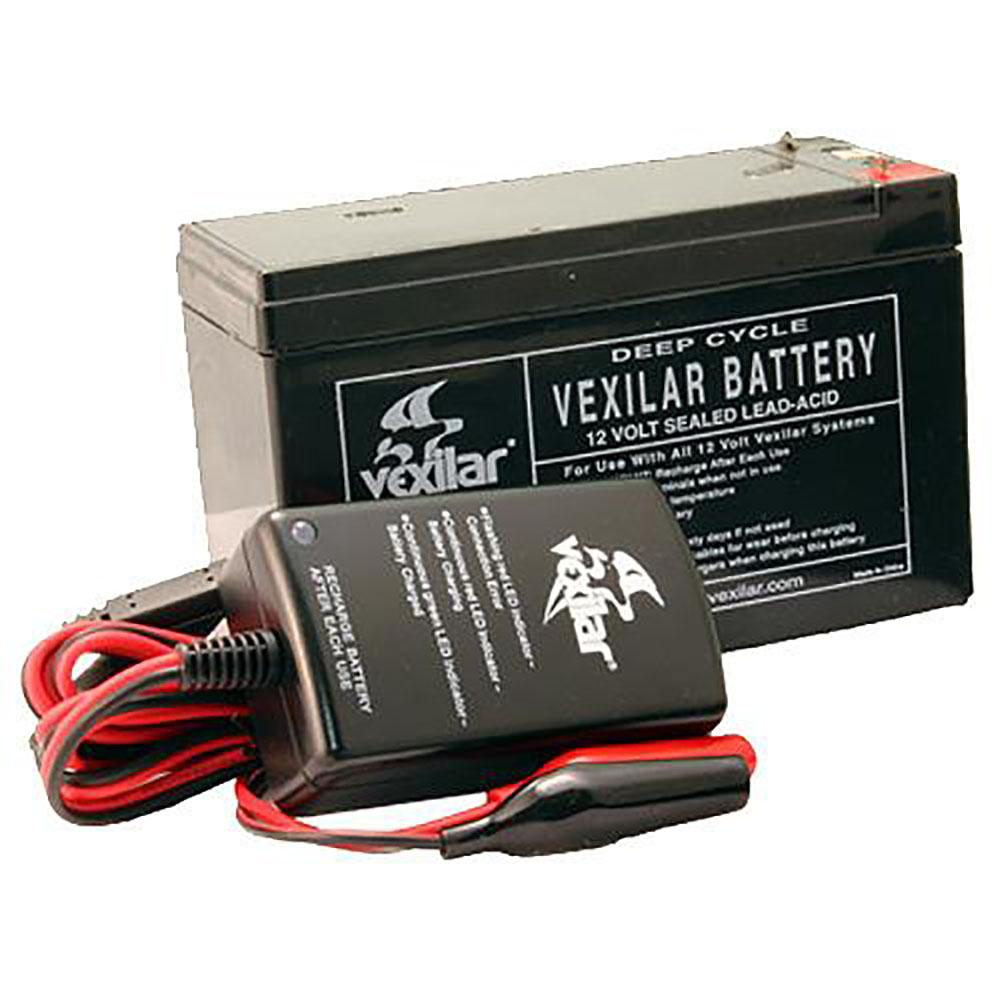 Vexilar 12 Volt 9 Amp High Performance Battery & Charger Set