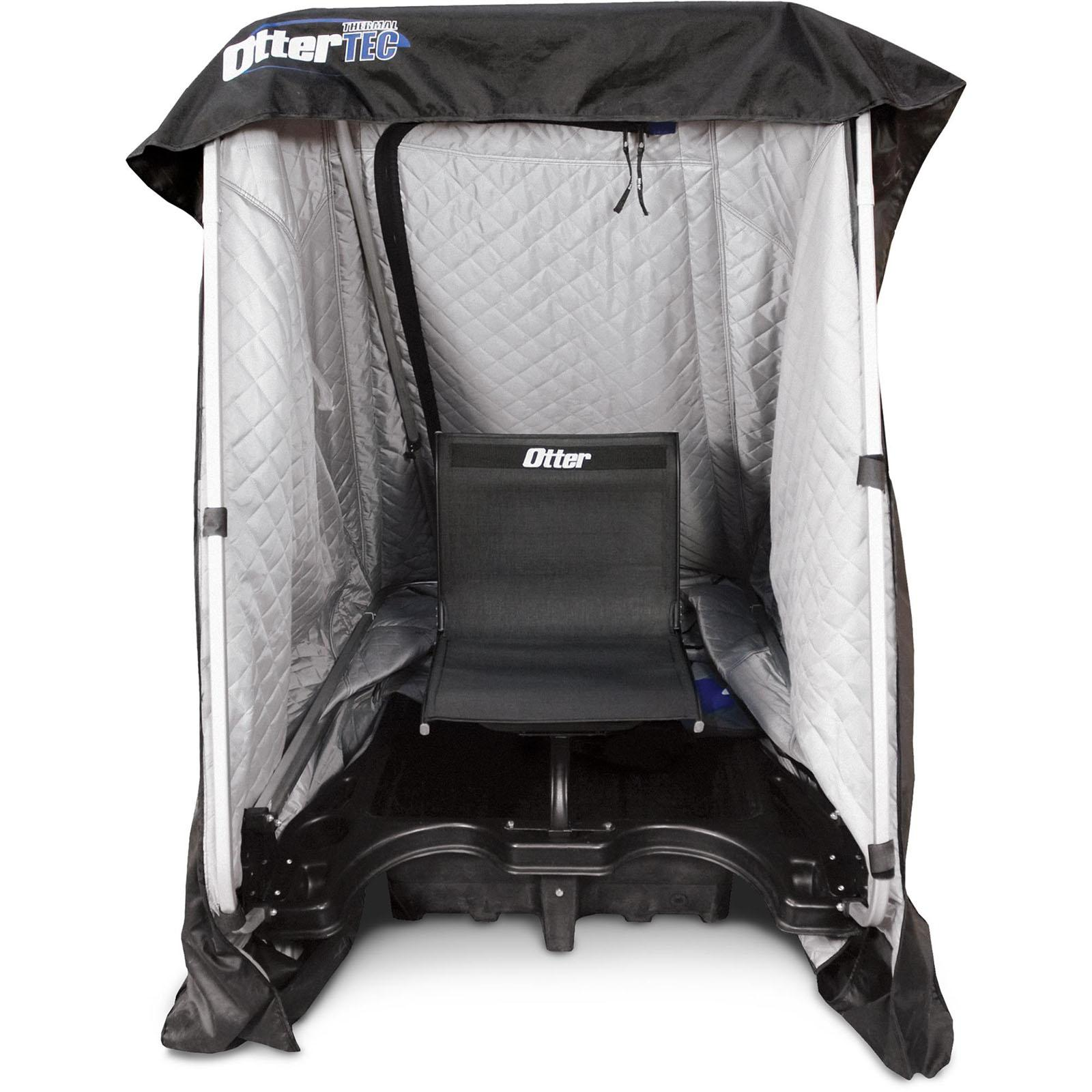 Inside Seating View - Otter Outdoors XT Hideout Ice Shelter
