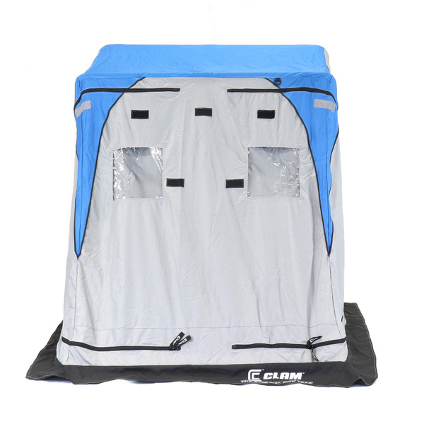 Clam Nanook XL Thermal Ice Shelter Front View with Door Closed