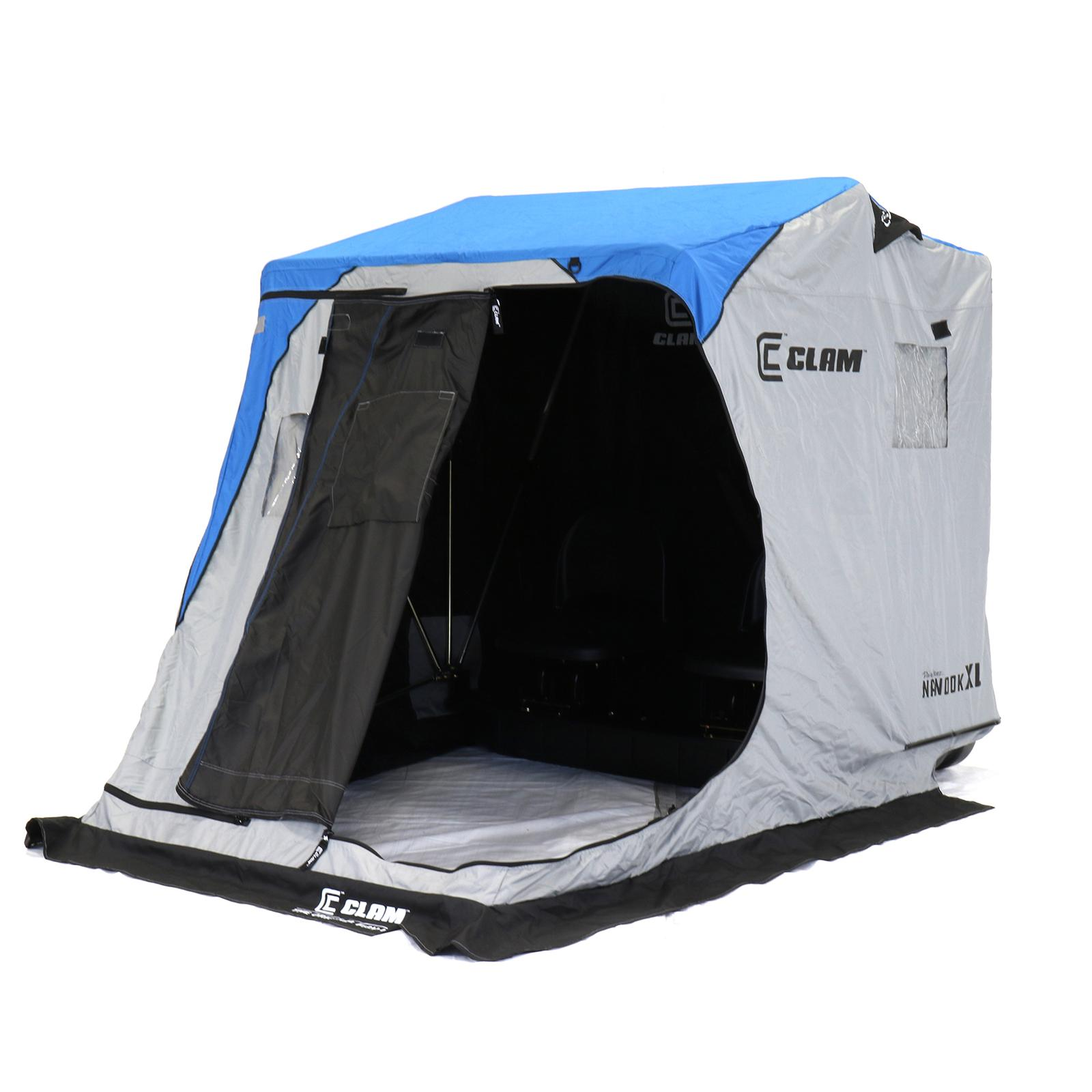 Clam Nanook XL Thermal Ice Shelter Front View with Door Open