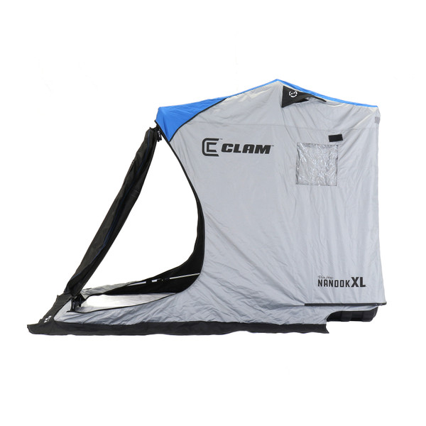 Clam Nanook XL Thermal Ice Shelter Side View with Open Door