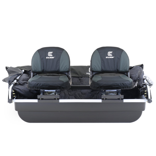 Clam Yukon XL Thermal Ice Shelter Front View Seats in Tub