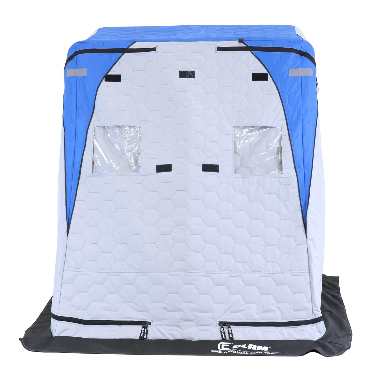 Clam Yukon XL Thermal Ice Shelter Front View with Cover Closed