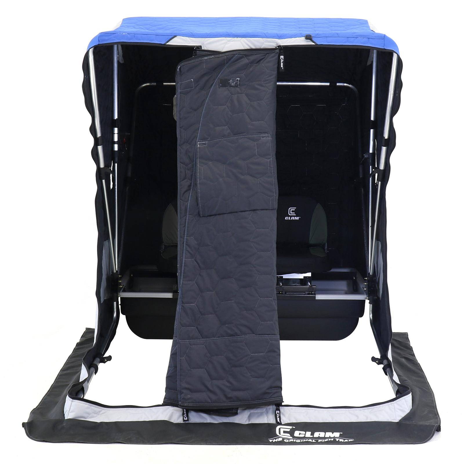Clam Yukon XL Thermal Ice Shelter Front View with Cover Open