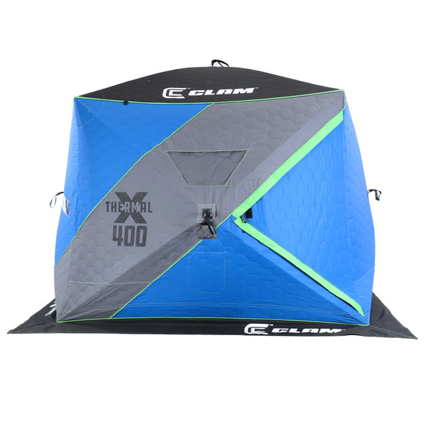 Clam X-400 Thermal Ice Shelter Side View