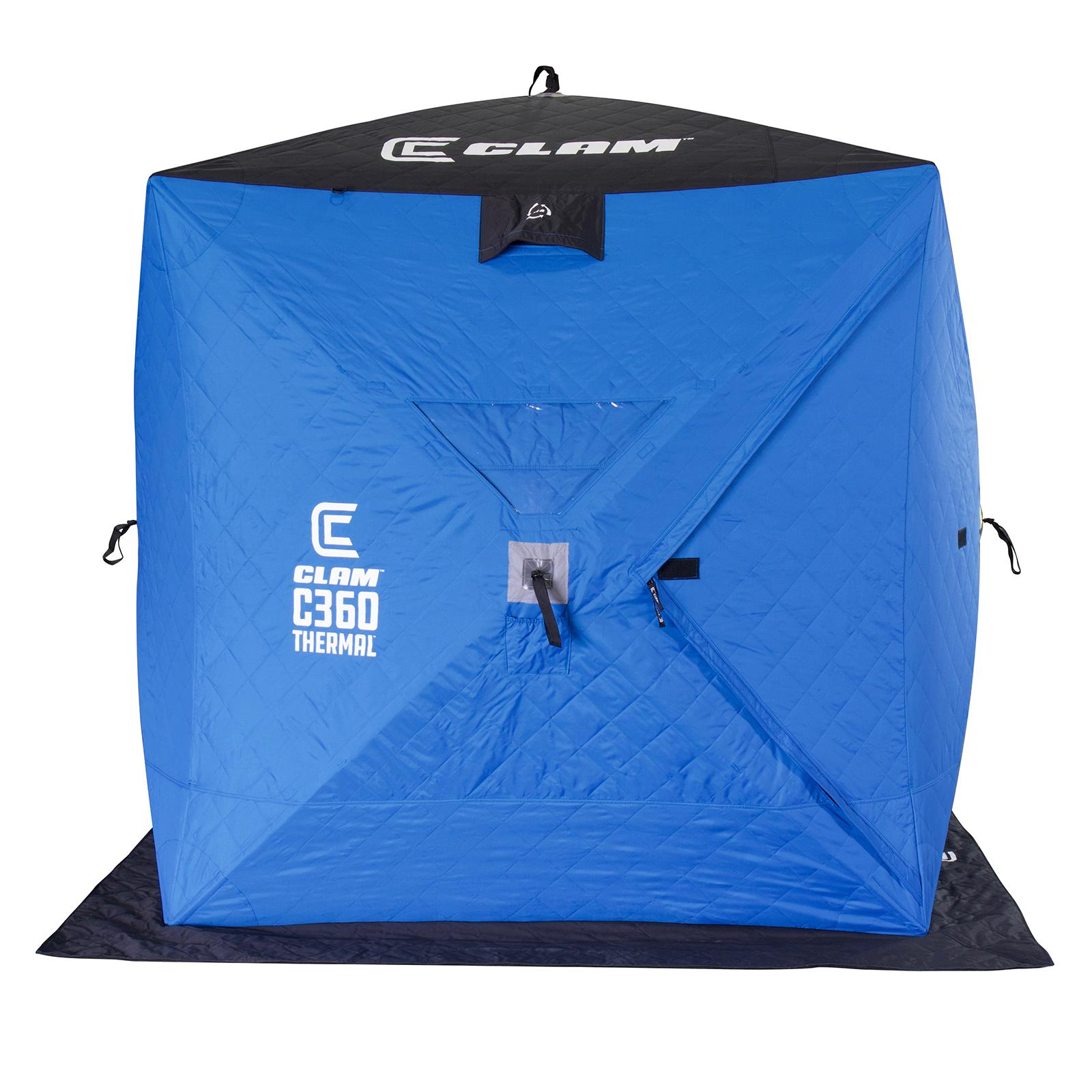 Clam C-360 Thermal Hub Ice Shelter Door Closed