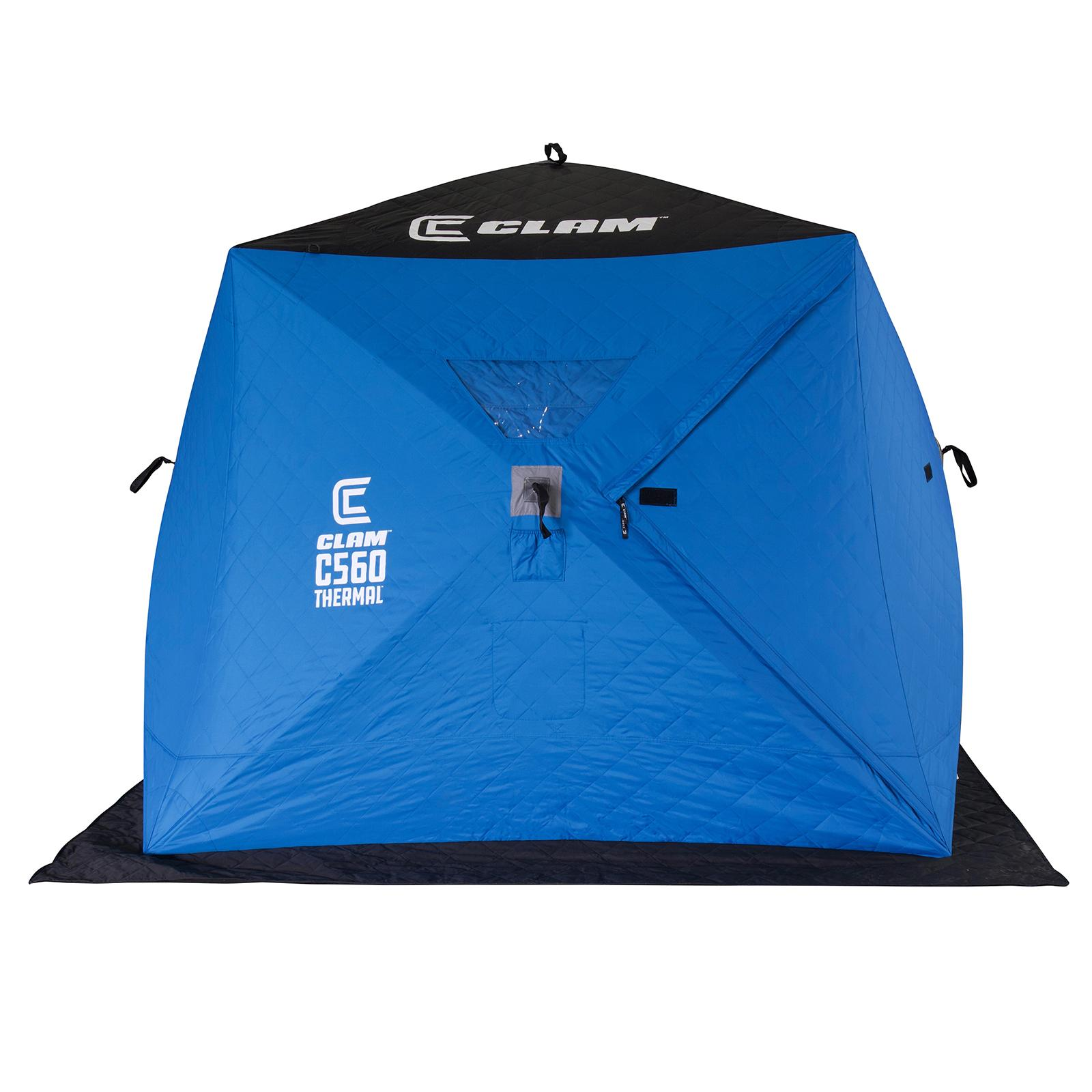 Clam C-560 Thermal Hub Ice Shelter Door Closed