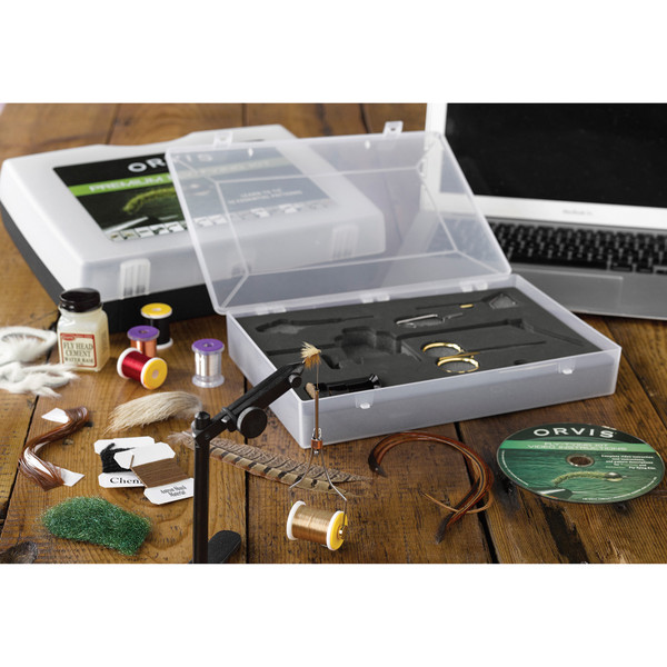 Orvis Premium Fly Tying Kit In Use
