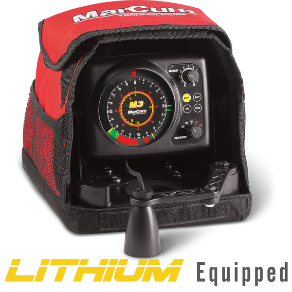 MarCum M3L True Color Sonar Flasher System with LiFePO4 12V10Ah Battery