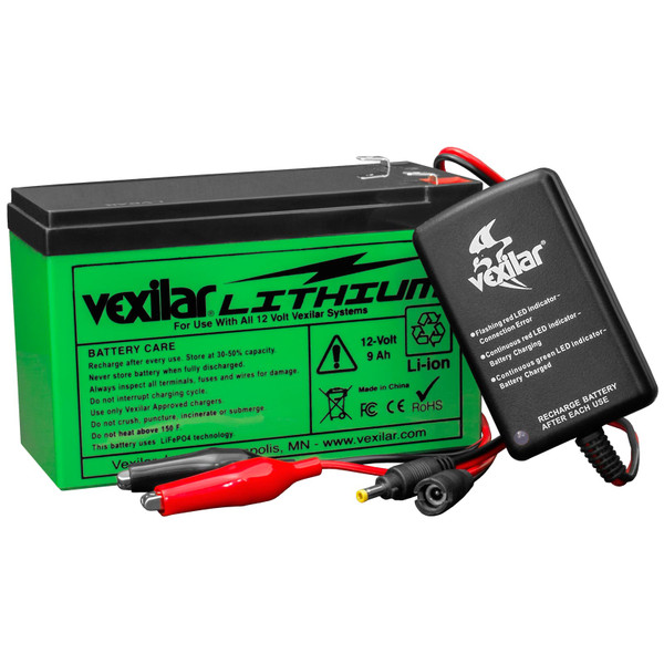 Vexilar 12 Volt Lithium Ion Battery and Charger Set