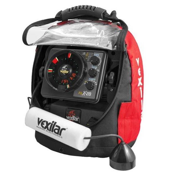 Vexilar FLX-28 Ultra Pack Combo with Lithium Ion Battery & Pro View Ice Ducer With Soft Pack