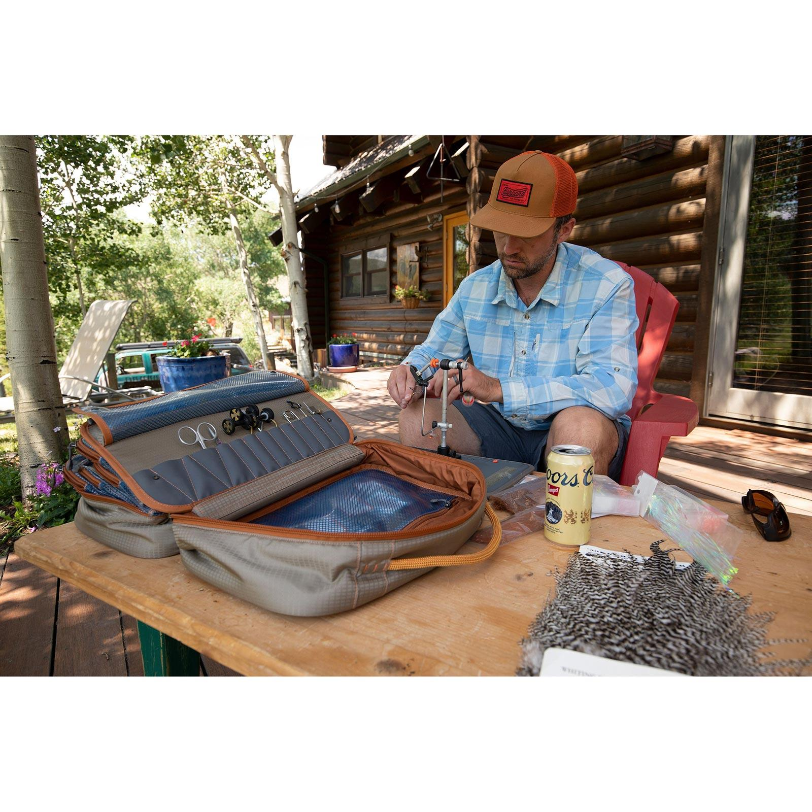 Fishpond Tailwater Fly Tying Kit In Use View