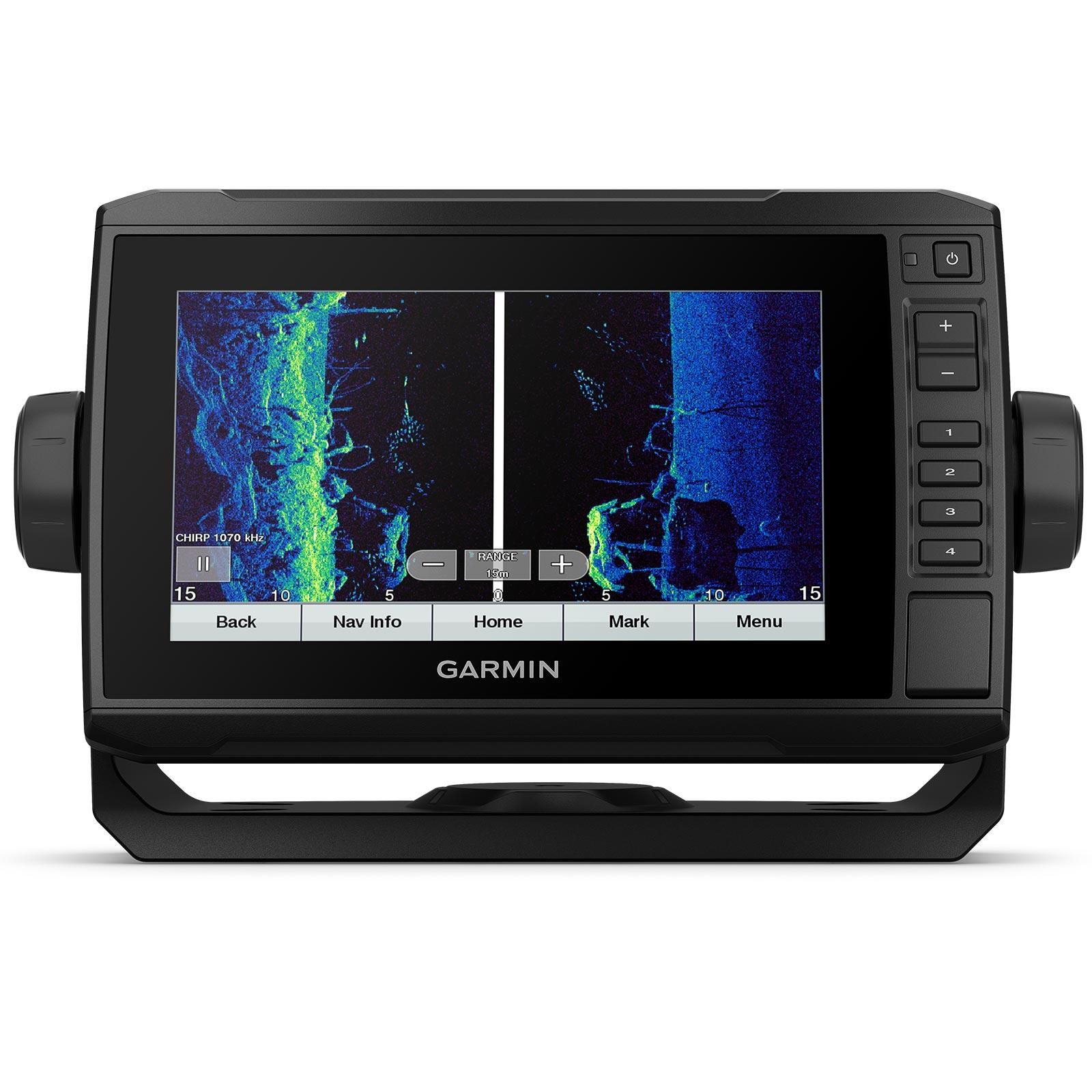 Garmin ECHOMAP UHD 72sv with GT56UHD-TM Transducer Split Screen