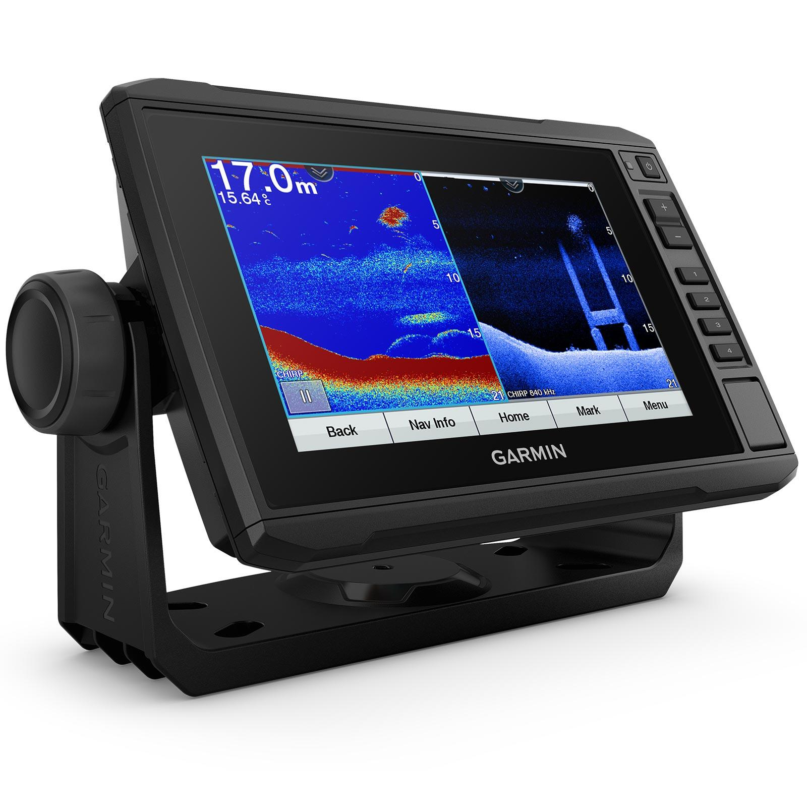 Garmin ECHOMAP UHD 75cv with GT24UHD-TM Transducer Split Screen