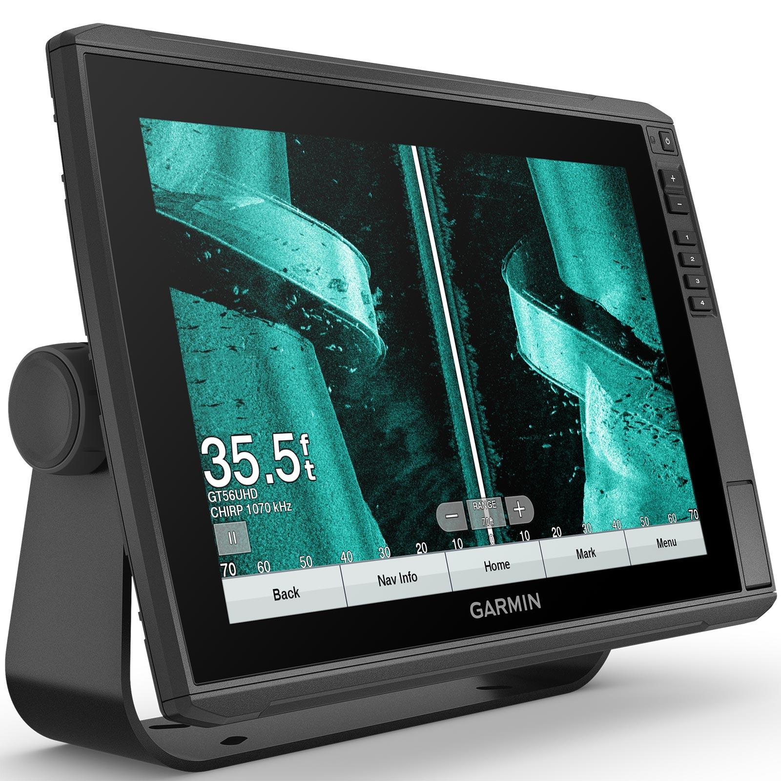 Garmin ECHOMAP Ultra 126sv with GT56UHD-TM Transducer Split Screen