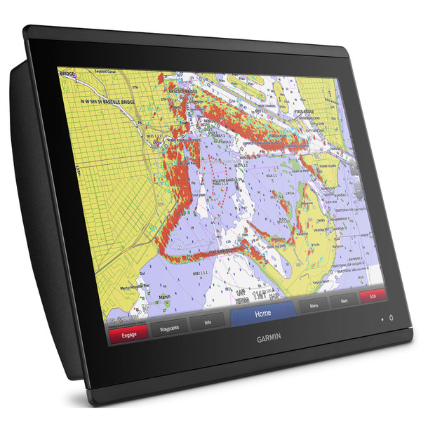 Garmin GPSMAP 8617 MFD with Mapping In Use