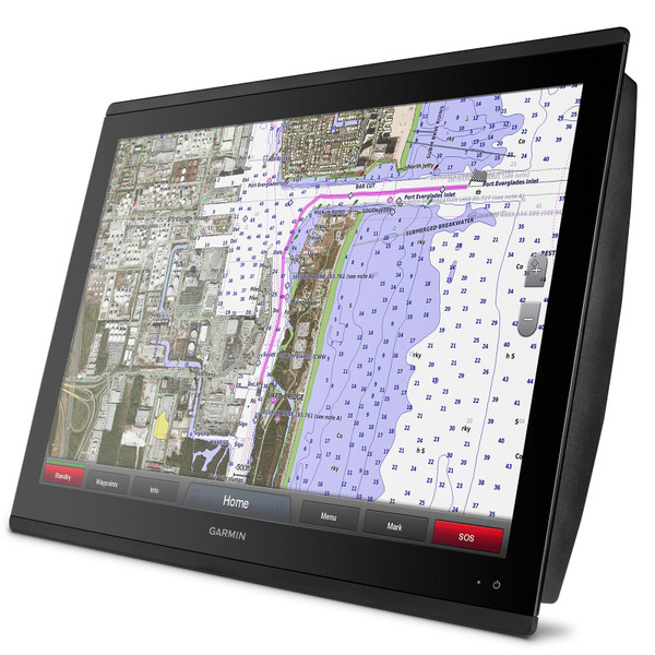 Garmin GPSMAP 8624 MFD with Mapping In Use
