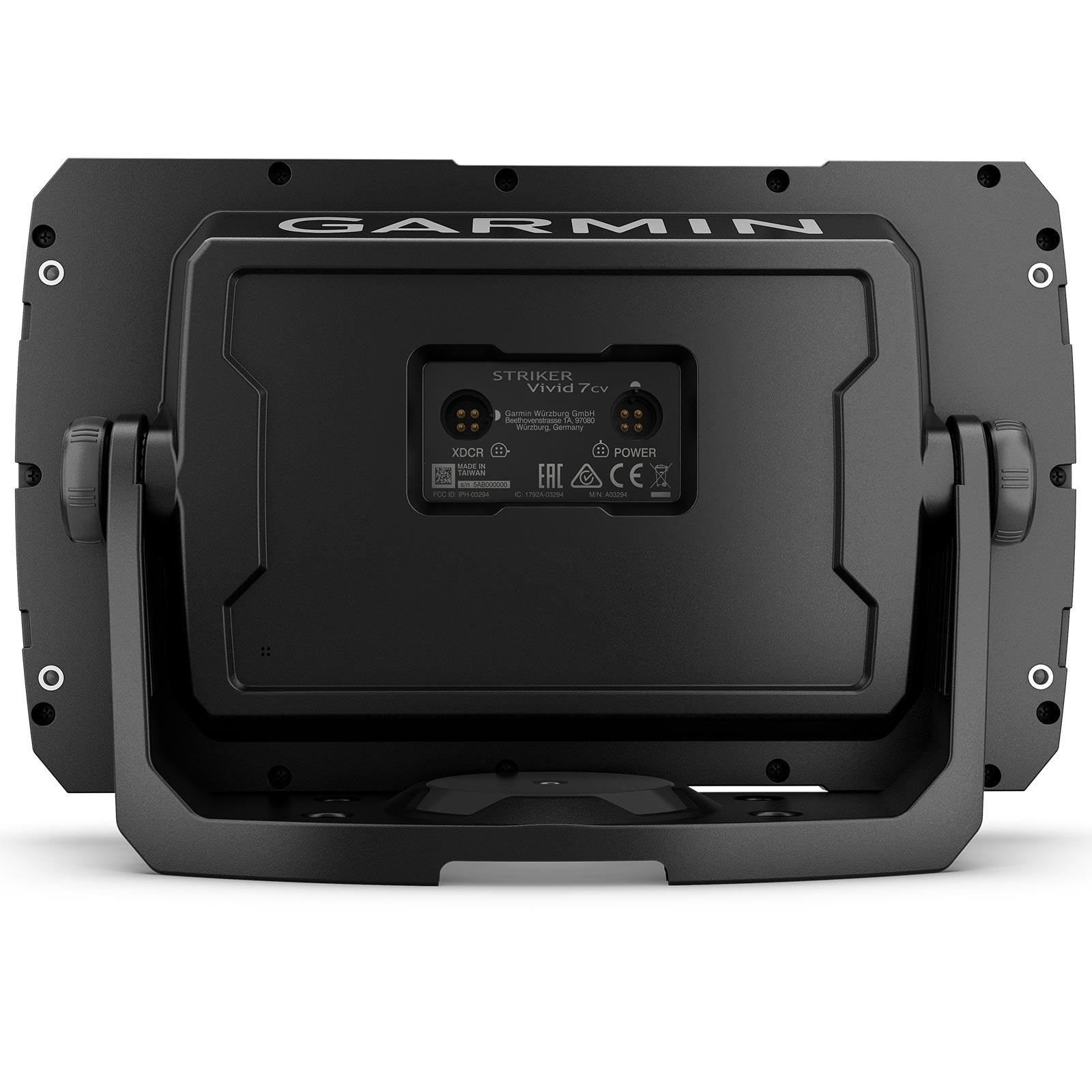 Garmin STRIKER Vivid 7cv with GT20-TM Transducer Back