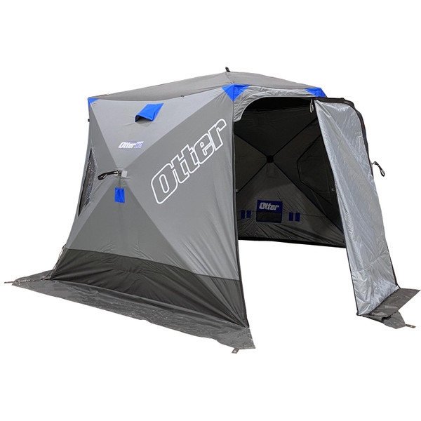 Otter Outdoors VORTEX PRO Lodge Thermal Hub Ice Shelter Open