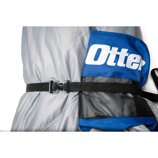Otter Outdoors Hub Ice Shelter Cinch Straps In Use View