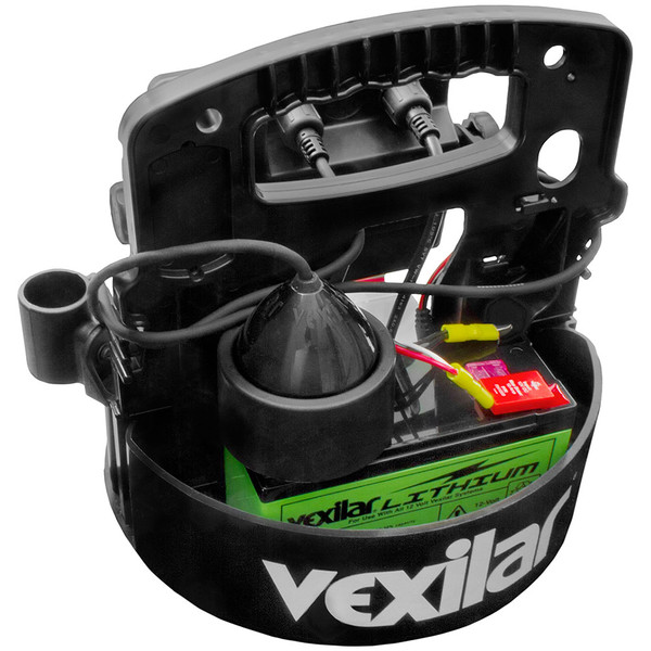 Vexilar FLX-28 Pro Pack II with ProView Ice-Ducer - Back