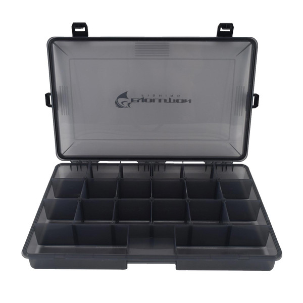 Evolution Outdoor 3700 4-Latch Waterproof Tackle Tray Open