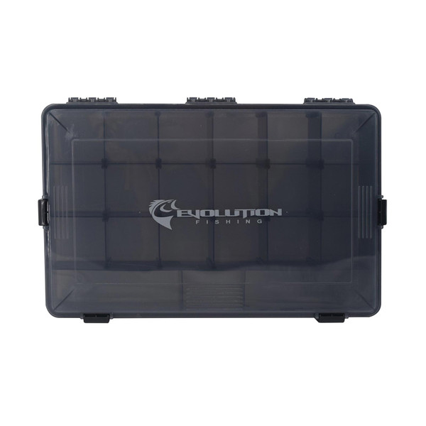 Evolution Outdoor 3700 4-Latch Waterproof Tackle Tray Top VIew
