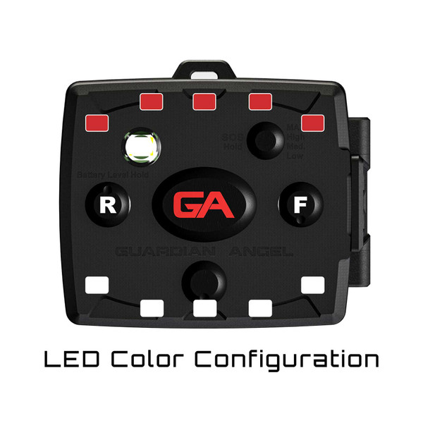 Guardian Angel Devices Micro Series Wearable Safety Light LED Color Configuration