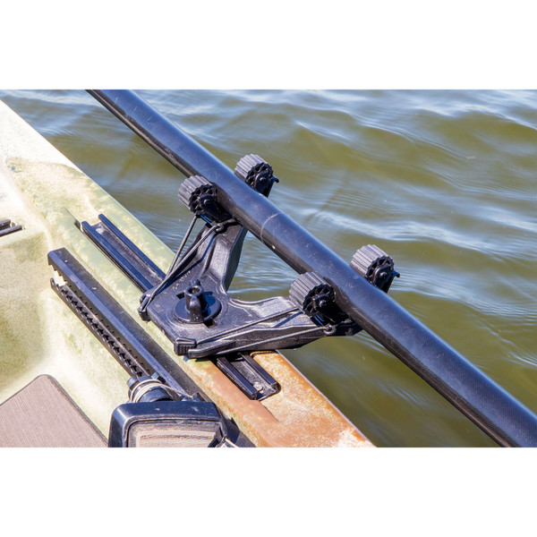 YakAttack DoubleHeader Track Mount with Dual RotoGrip Paddle Holders-In Use in Track (Track not included)