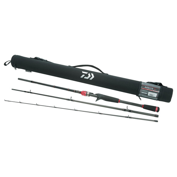 Daiwa Ardito-TR Travel Casting Rod Pieces and Case