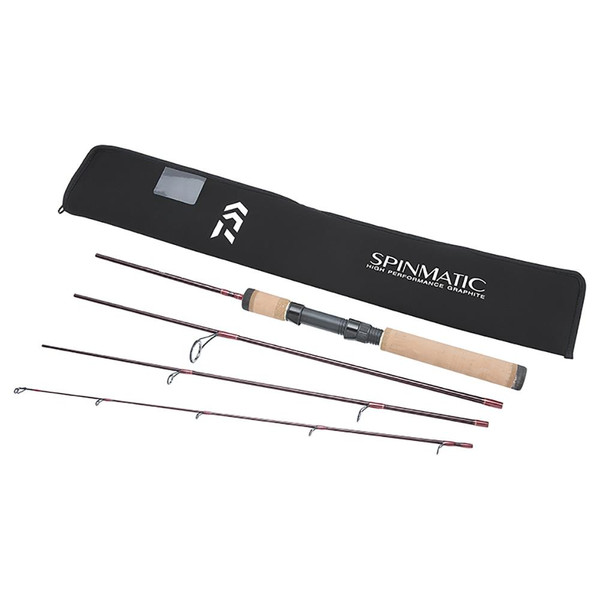 Daiwa Spinmatic D Travel Spinning Rod With Travel Case