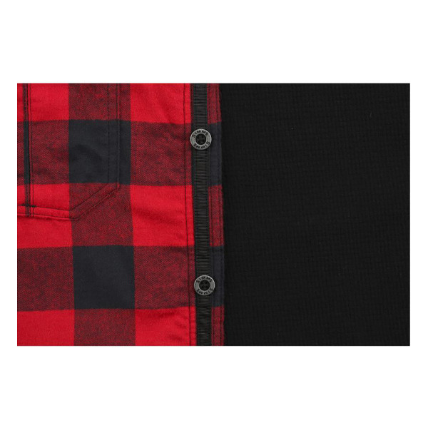 Button View - Red Buffalo Plaid