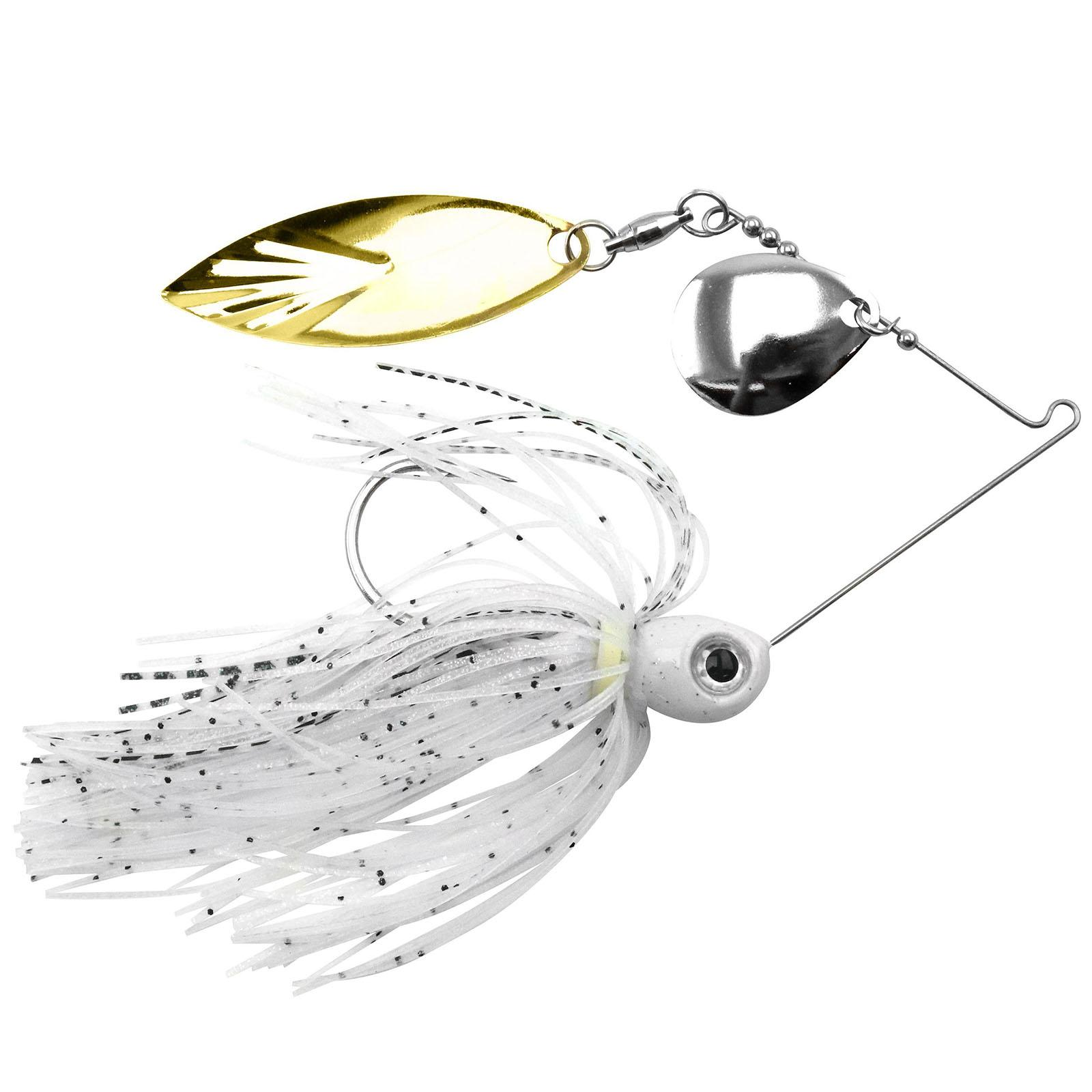 Accent River Special Colorado / Willow Spinnerbait Color Nickel/Gold Blade - Crystal White Shad Skirt Weight 1/4 oz thumbnail