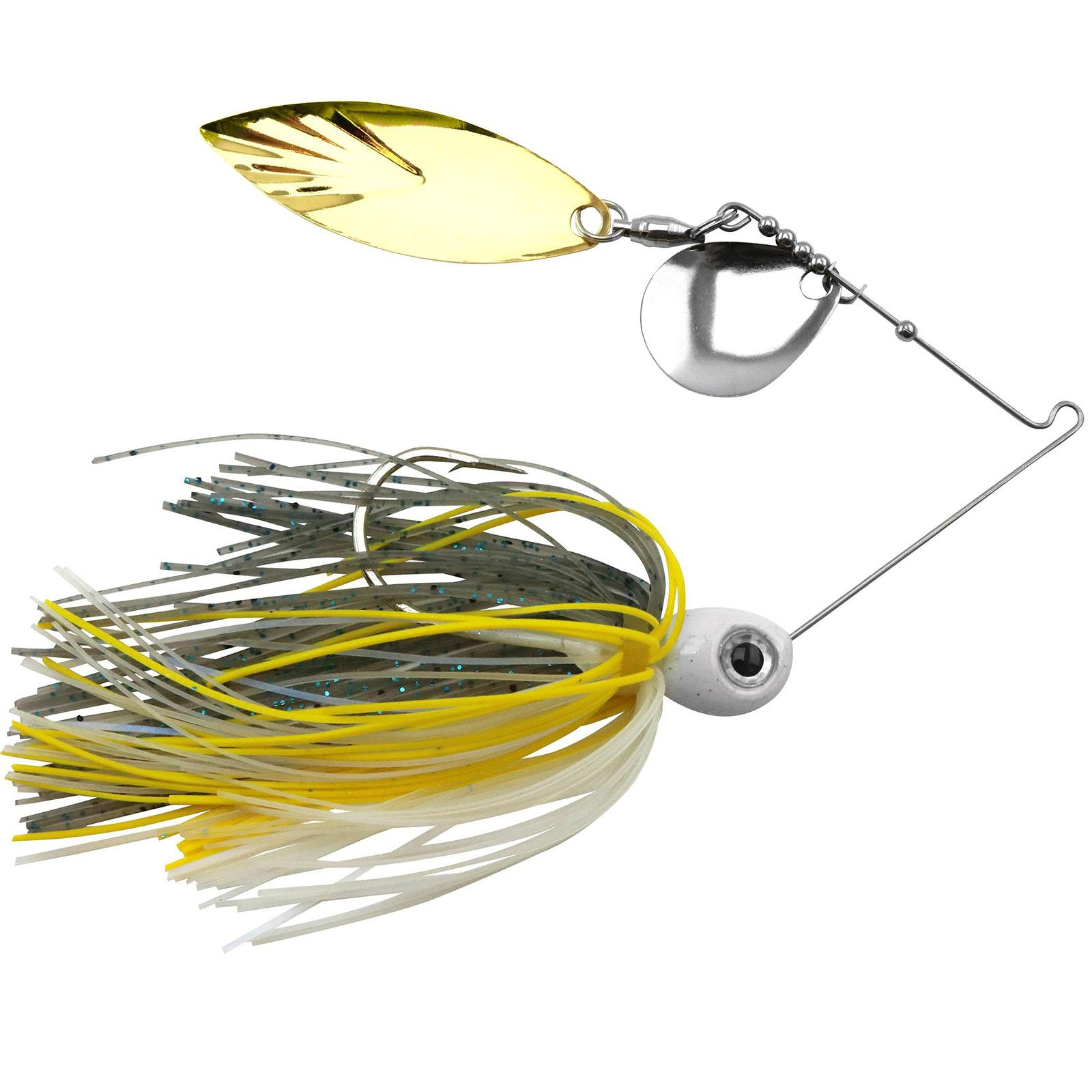 Accent River Special Colorado / Willow Spinnerbait Color Nickel/Gold Blade - Sizzling Shad Skirt Weight 1/4 oz thumbnail