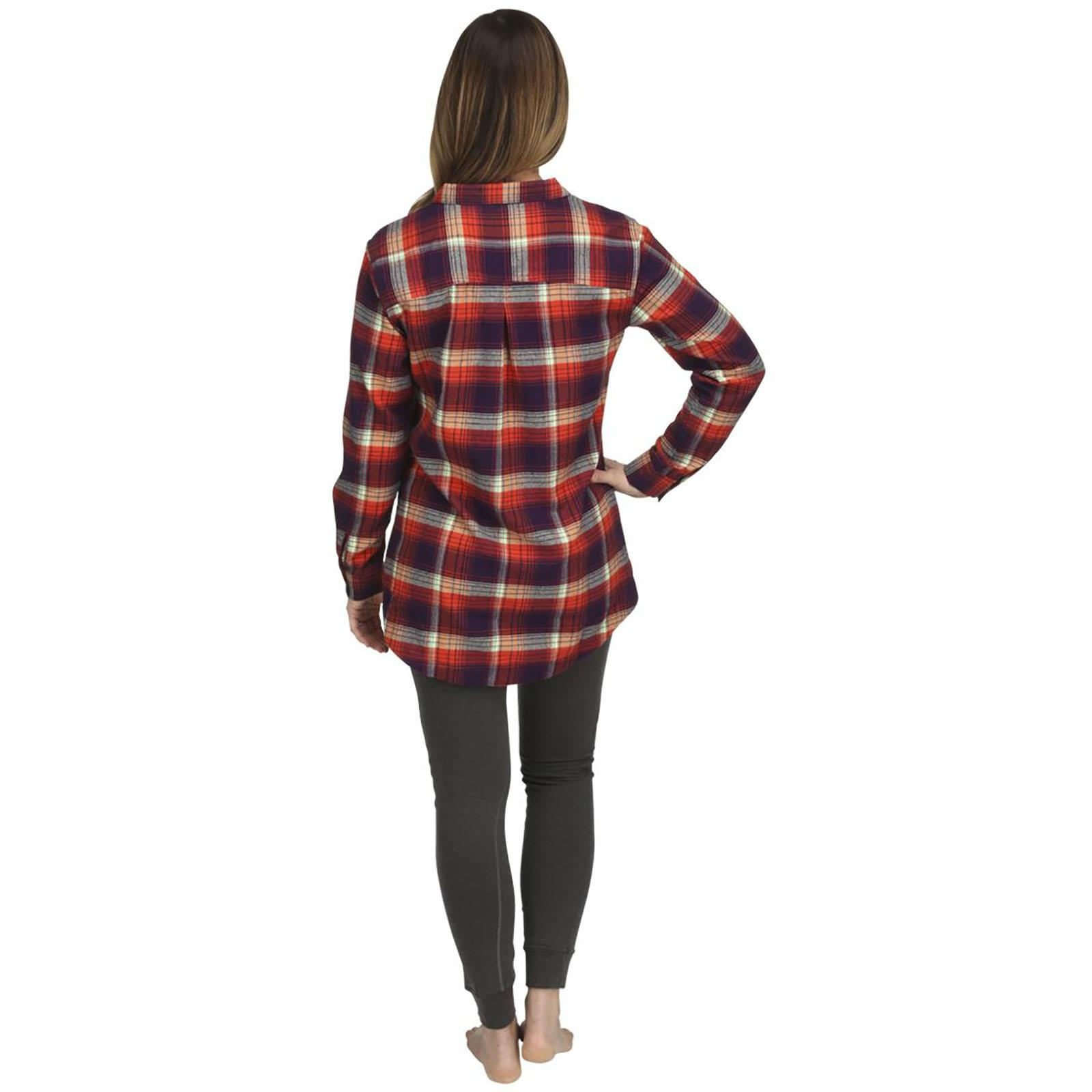 Back View - Spiced Coral Plaid