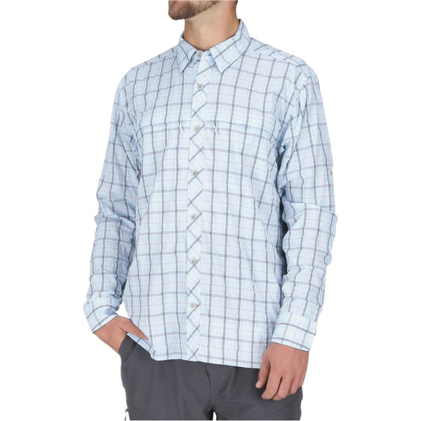 Mist Admiral Blue Plaid Model Front