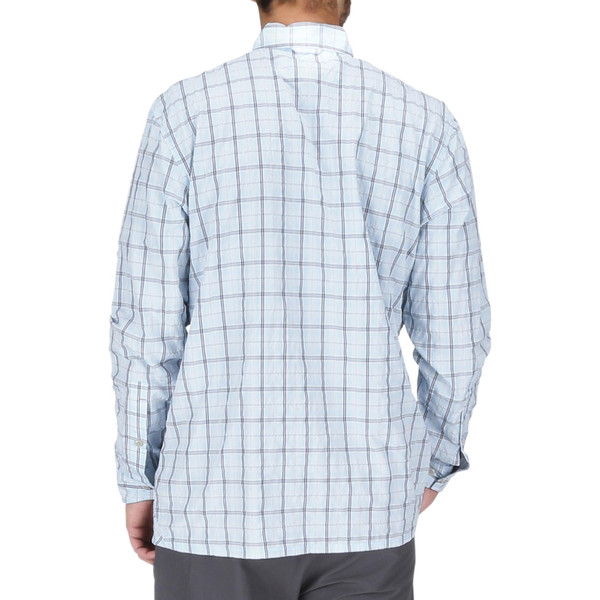 Mist Admiral Blue Plaid Model Back