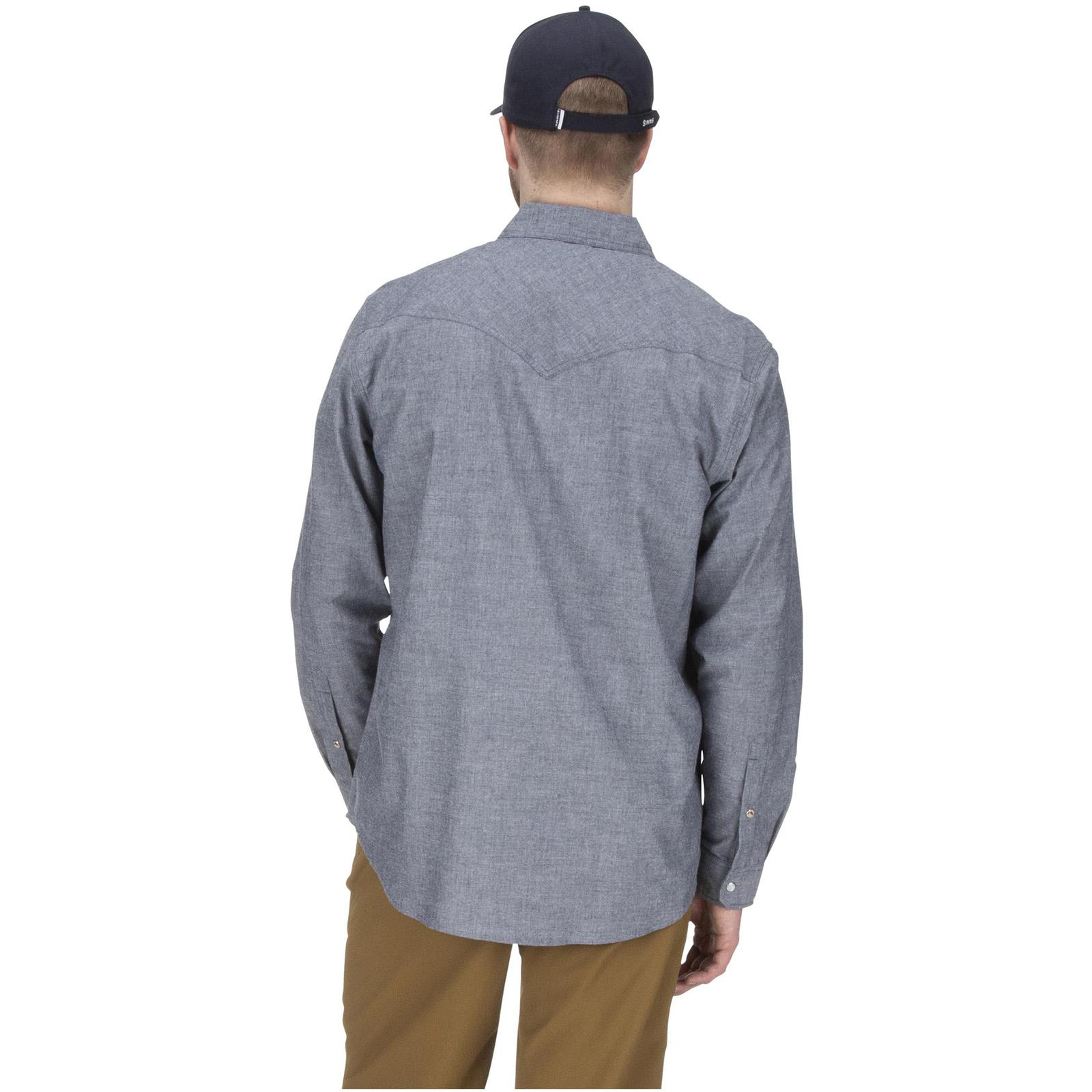 Admiral Blue Chambray Back Model