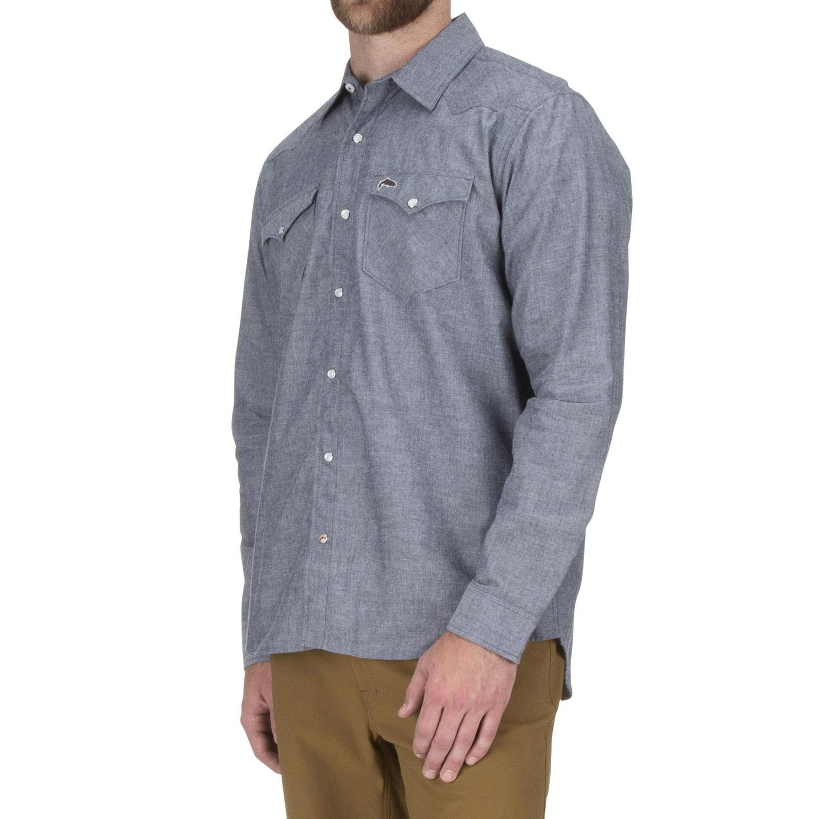 Admiral Blue Chambray Side Model