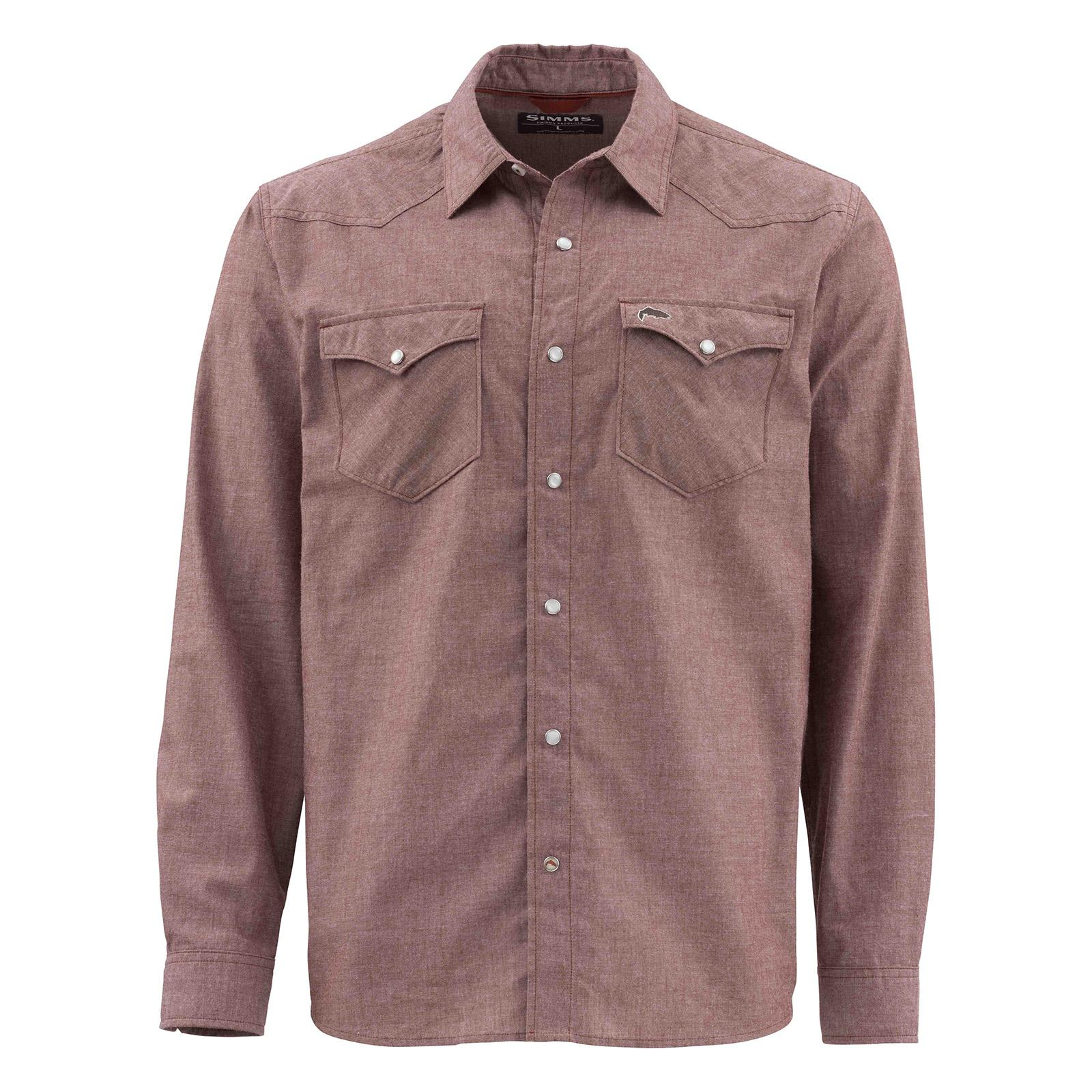 Rusty Red Chambray Front