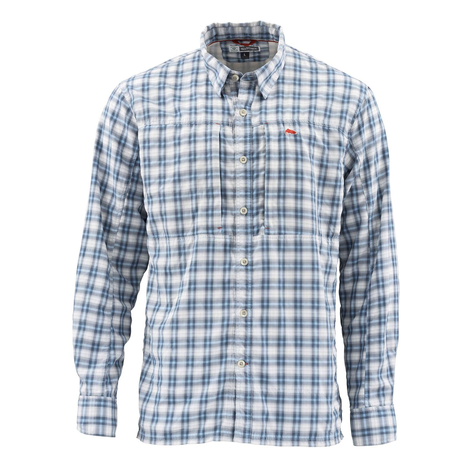 Faded Denim Plaid Front