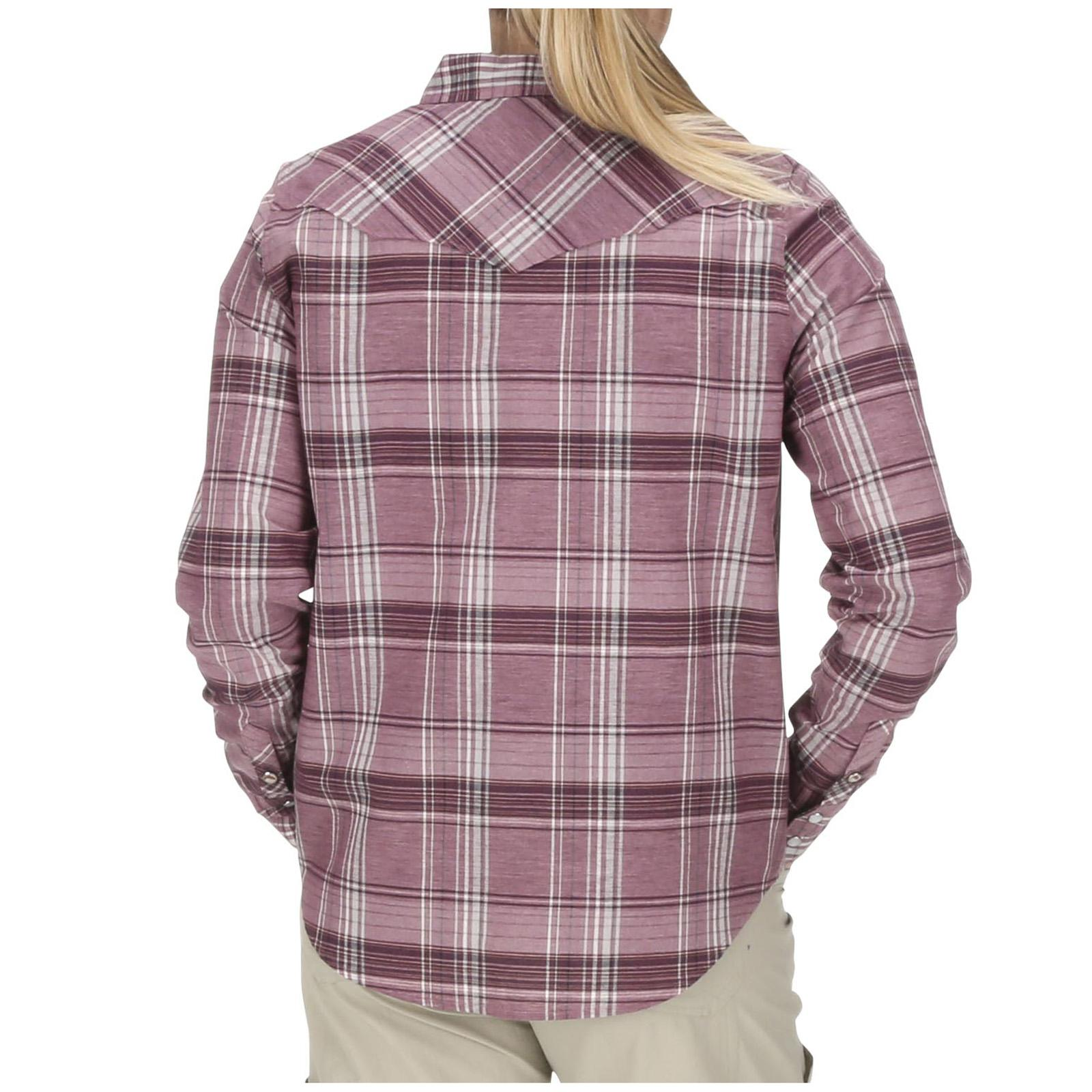 Garnet Plaid Model Back