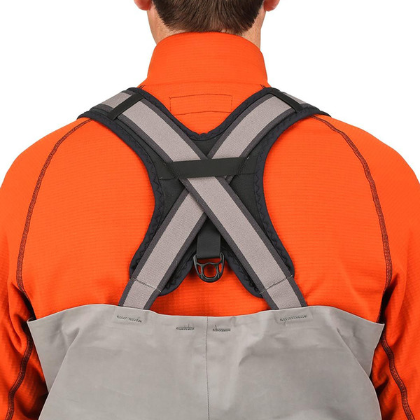 Simms G4 PRO Stockingfoot Chest Waders model suspenders back