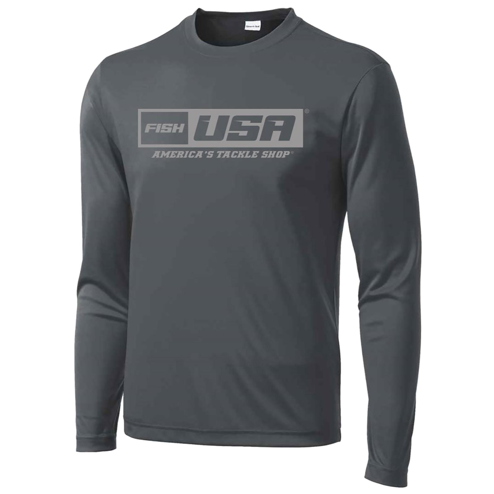 FishUSA Men's Hardcore Performance Long Sleeve Shirt Front