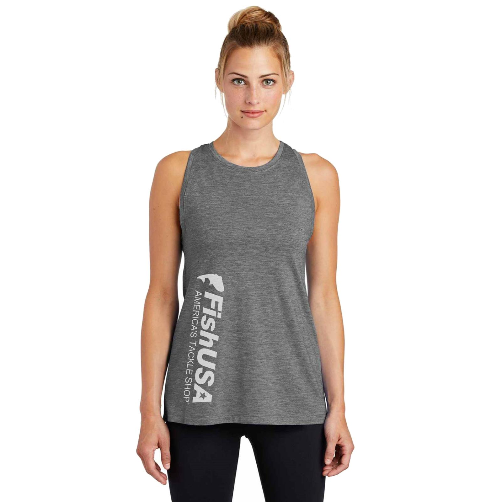 FishUSA Women's Logo Tank Top on Model