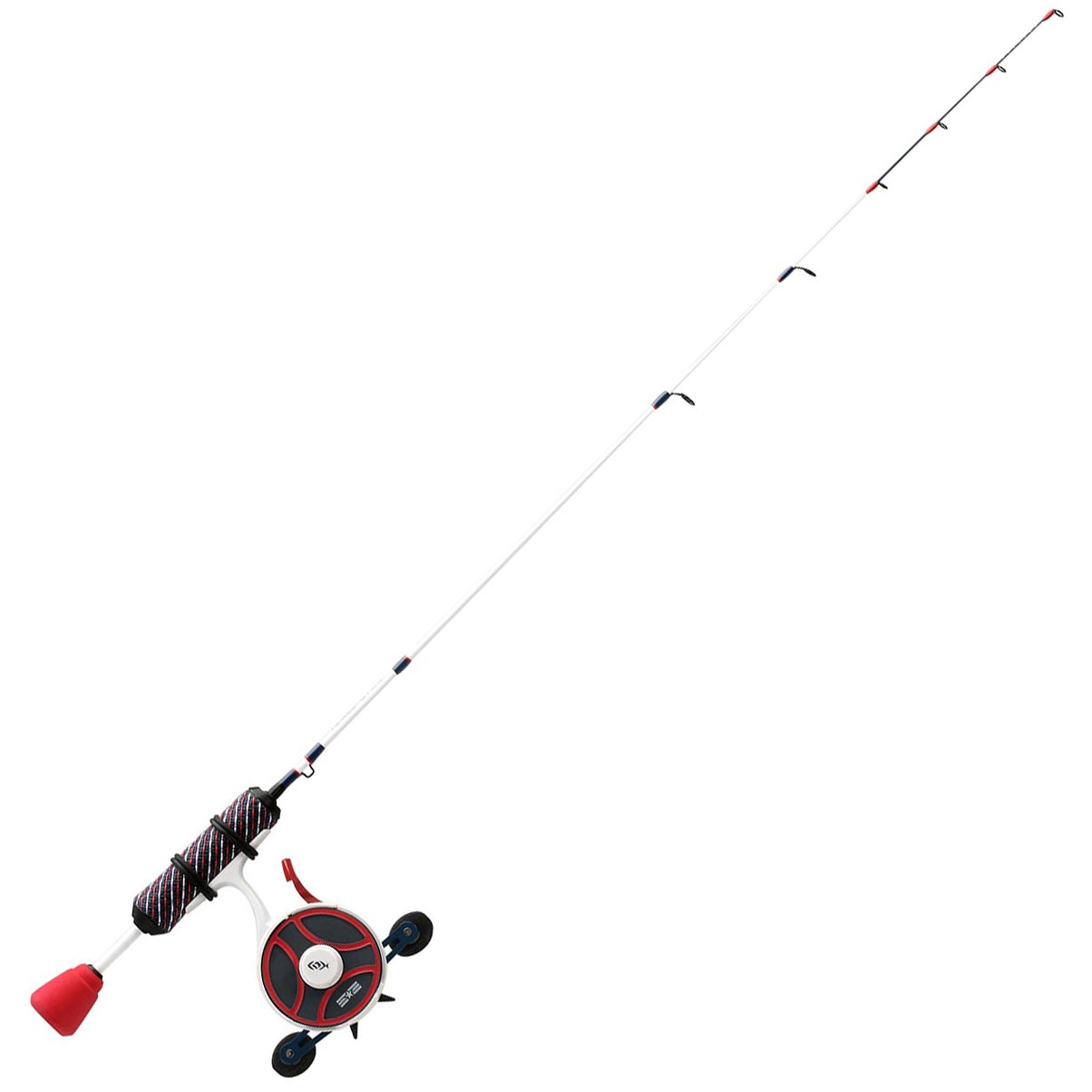 13 Fishing Black Betty FreeFall Ghost Patriot Edition Inline Ice Combo