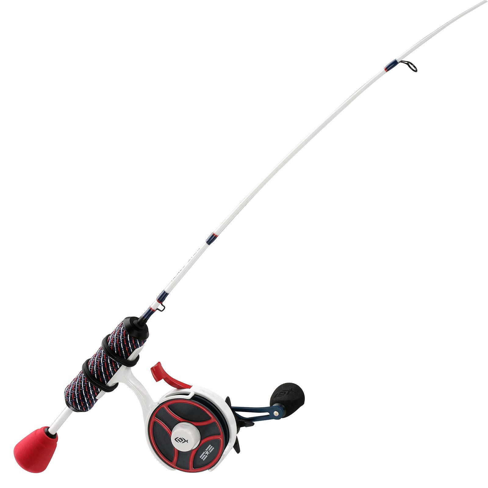13 Fishing Black Betty FreeFall Ghost Patriot Edition Inline Ice Combo Handle